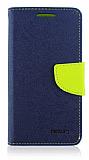 Mercury LG G2 Standl� C�zdanl� Koyu Mavi K�l�f