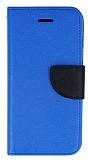 Mercury Samsung Galaxy S5 mini Standlı Cüzdanlı Mavi Deri Kılıf