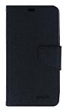 Mercury Sony Xperia Z Yan Kapaklı Siyah Cüzdan Kılıf