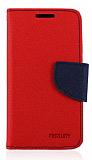 Mercury Sony Xperia Z1 Compact Standlı Cüzdanlı Kırmızı Kılıf