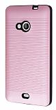 Microsoft Lumia 535 Silikon Kenarlı Pembe Kılıf