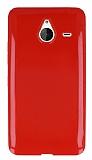 Microsoft Lumia 640 XL K�rm�z� Silikon K�l�f