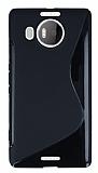 Microsoft Lumia 950 XL Desenli Siyah Silikon Kılıf