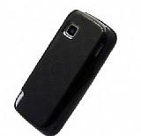 Nokia 5230 �effaf Siyah Silikon K�l�f