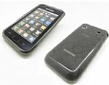 Samsung i9000 Galaxy S �effaf Siyah Silikon K�l�f