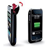 MiLi iPhone 3G / iPhone 3GS Power Spring Ta��nabilir Siyah Bataryal� K�l�f