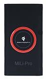 Mili-Pro Kablosuz Hızlı Şarj Özellikli 10000 mAh Powerbank Siyah Yedek Batarya