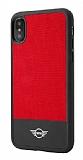 Mini iPhone X Siyah Kenarlı Kırmızı Silikon Kılıf