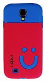 Mob Samsung i9500 Galaxy S4 G�len Y�z Koyu Pembe Silikon K�l�f