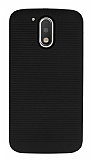 Motorola Moto G4 / G4 Plus Silikon Kenarlı Siyah Kılıf