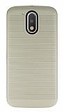 Motorola Moto G4 / G4 Plus Silikon Kenarlı Gold Kılıf