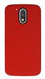 Motorola Moto G4 / G4 Plus Silikon Kenarlı Kırmızı Kılıf