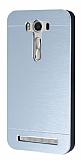 Motomo Asus ZenFone 2 Laser 5 inç Metal Silver Rubber Kılıf