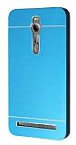 Motomo Asus Zenfone 2 Metal Mavi Rubber Kılıf