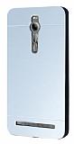 Motomo Asus Zenfone 2 Metal Silver Rubber Kılıf