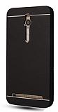 Motomo Asus Zenfone 2 Metal Siyah Rubber Kılıf