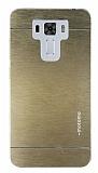 Motomo Asus Zenfone 3 Laser ZC551KL Metal Gold Rubber Kılıf