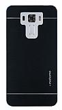 Motomo Asus Zenfone 3 Laser ZC551KL Metal Siyah Rubber Kılıf