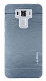 Motomo Asus Zenfone 3 Laser ZC551KL Metal Silver Rubber Kılıf