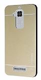 Motomo Asus Zenfone 3 Max ZC520TL Metal Gold Rubber Kılıf