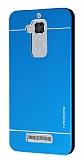 Motomo Asus Zenfone 3 Max ZC520TL Metal Mavi Rubber Kılıf