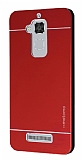 Motomo Asus Zenfone 3 Max ZC520TL Metal Kırmızı Rubber Kılıf