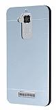 Motomo Asus Zenfone 3 Max ZC520TL Metal Silver Rubber Kılıf