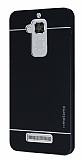 Motomo Asus Zenfone 3 Max ZC520TL Metal Siyah Rubber Kılıf