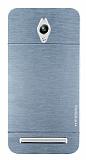 Motomo Asus ZenFone Go ZC500TG Metal Silver Rubber Kılıf