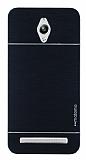 Motomo Asus ZenFone Go ZC500TG Metal Siyah Rubber Kılıf