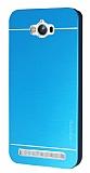 Motomo Asus Zenfone Max Metal Mavi Rubber Kılıf