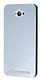 Motomo Asus Zenfone Max Metal Silver Rubber K�l�f