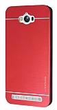 Motomo Asus Zenfone Max Metal Kırmızı Rubber Kılıf