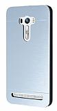 Motomo Asus Zenfone Selfie Metal Silver Rubber Kılıf