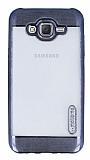 Motomo Gel Samsung Galaxy J7 Dark Silver Silikon K�l�f