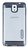 Motomo Gel Samsung Galaxy Note 3 Dark Silver Silikon Kılıf