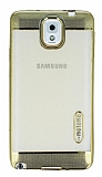 Motomo Gel Samsung Galaxy Note 3 Gold Silikon K�l�f