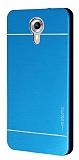 Motomo General Mobile Android One / General Mobile GM 5 Metal Mavi Rubber Kılıf