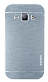 Motomo Samsung Galaxy J1 Metal Silver Rubber Kılıf