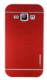 Motomo Samsung Galaxy J1 Metal K�rm�z� Rubber K�l�f