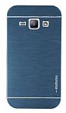Motomo Samsung Galaxy J1 Metal Lacivert Rubber Kılıf
