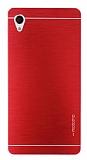 Motomo Sony Xperia M4 Aqua Metal Kırmızı Rubber Kılıf