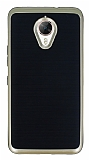 Motomo General Mobile GM 5 Plus Gold Kenarlı Siyah Silikon Kılıf