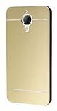 Motomo General Mobile GM 5 Plus Metal Gold Rubber Kılıf