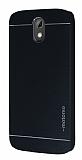 Motomo HTC Desire 526 Metal Siyah Rubber K�l�f