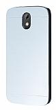 Motomo HTC Desire 526 Metal Silver Rubber Kılıf