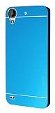 Motomo HTC Desire 630 Metal Mavi Rubber Kılıf