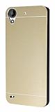Motomo HTC Desire 630 Metal Gold Rubber Kılıf