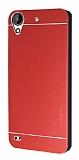 Motomo HTC Desire 630 Metal Kırmızı Rubber Kılıf