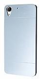 Motomo HTC Desire 728G Metal Silver Rubber Kılıf